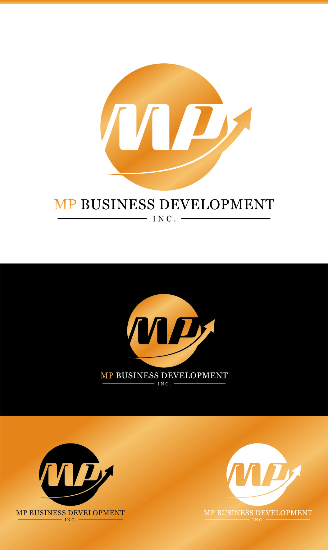 Logo Design by RasYa Muhammad Athaya - Entry No. 176 in the Logo Design Contest MP Business Development Inc. Logo Design.