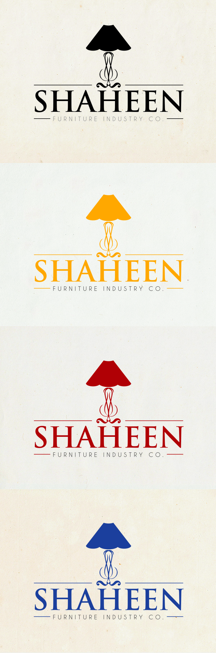 Logo Design by Ngepet_art - Entry No. 103 in the Logo Design Contest Artistic Logo Design for Shaheen Furniture Industry Co..