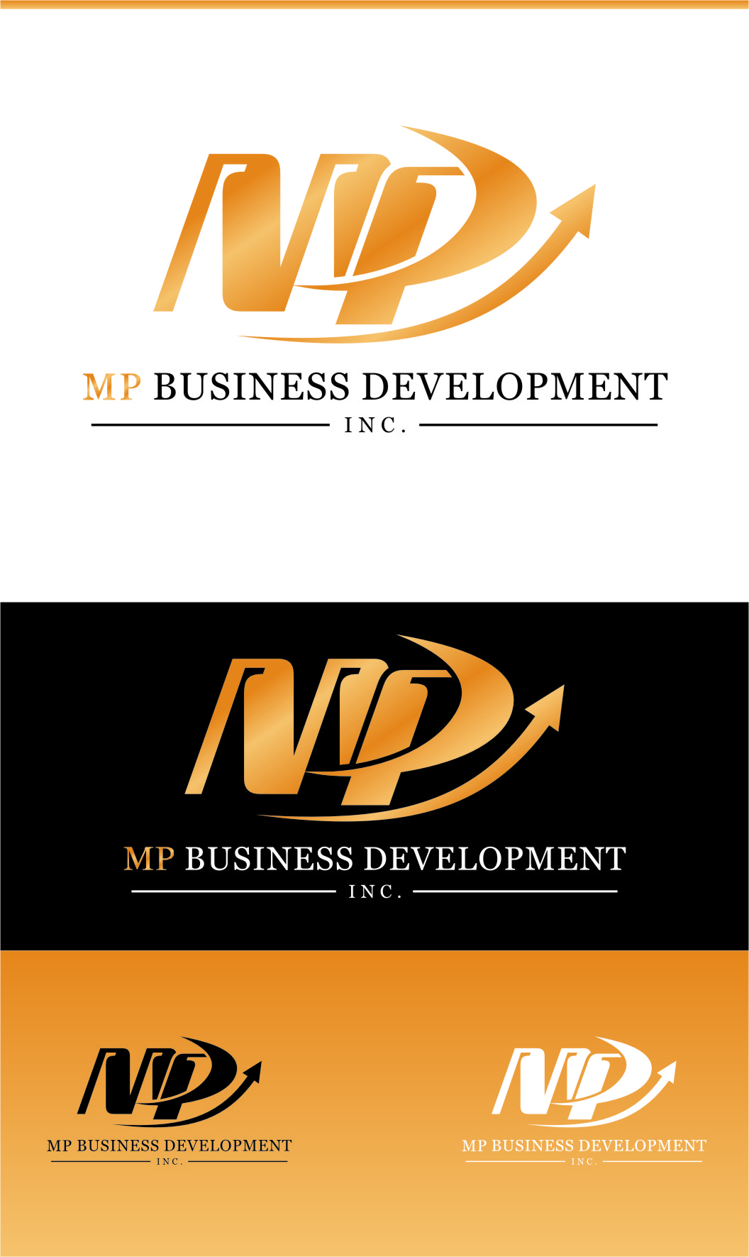 Logo Design by RasYa Muhammad Athaya - Entry No. 178 in the Logo Design Contest MP Business Development Inc. Logo Design.