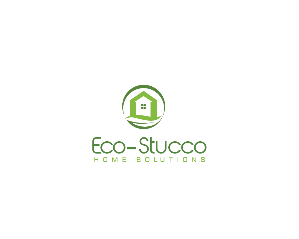 Logo Design by roc - Entry No. 3 in the Logo Design Contest Unique Logo Design Wanted for Eco-Stucco Home Solutions.