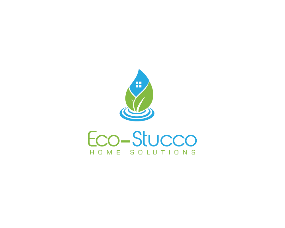 Logo Design by roc - Entry No. 4 in the Logo Design Contest Unique Logo Design Wanted for Eco-Stucco Home Solutions.
