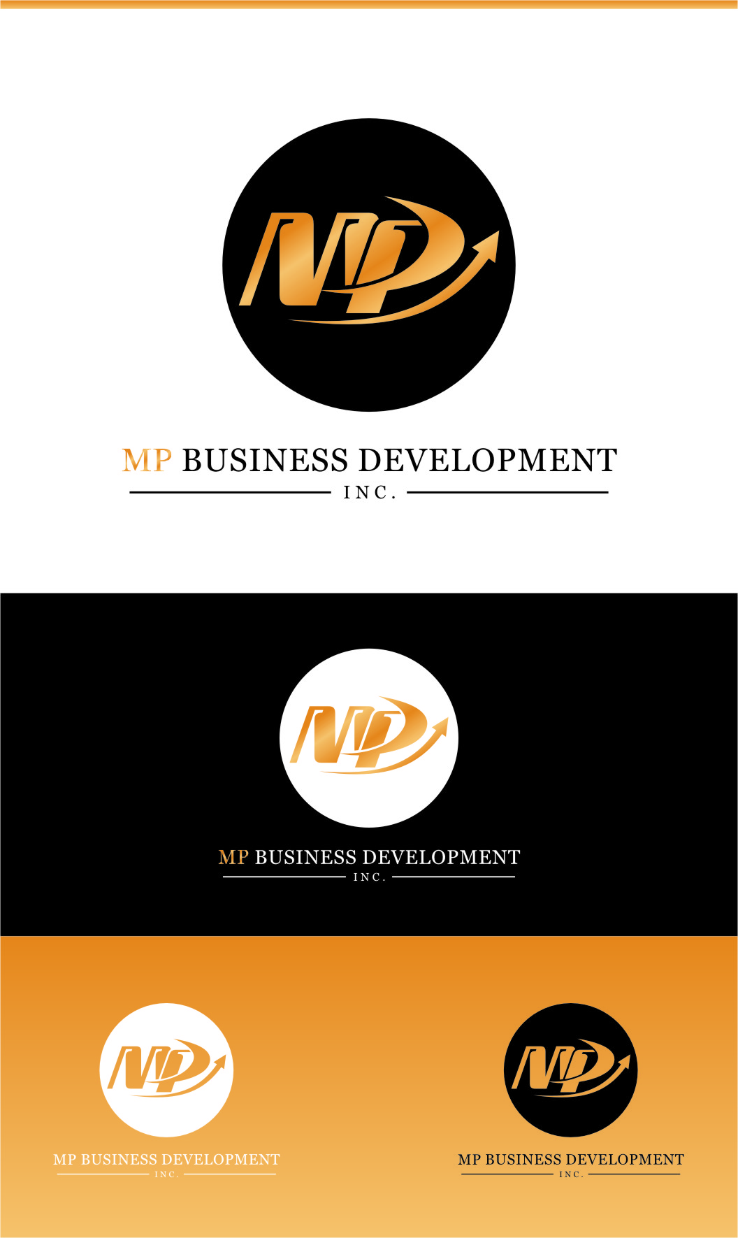 Logo Design by RasYa Muhammad Athaya - Entry No. 188 in the Logo Design Contest MP Business Development Inc. Logo Design.