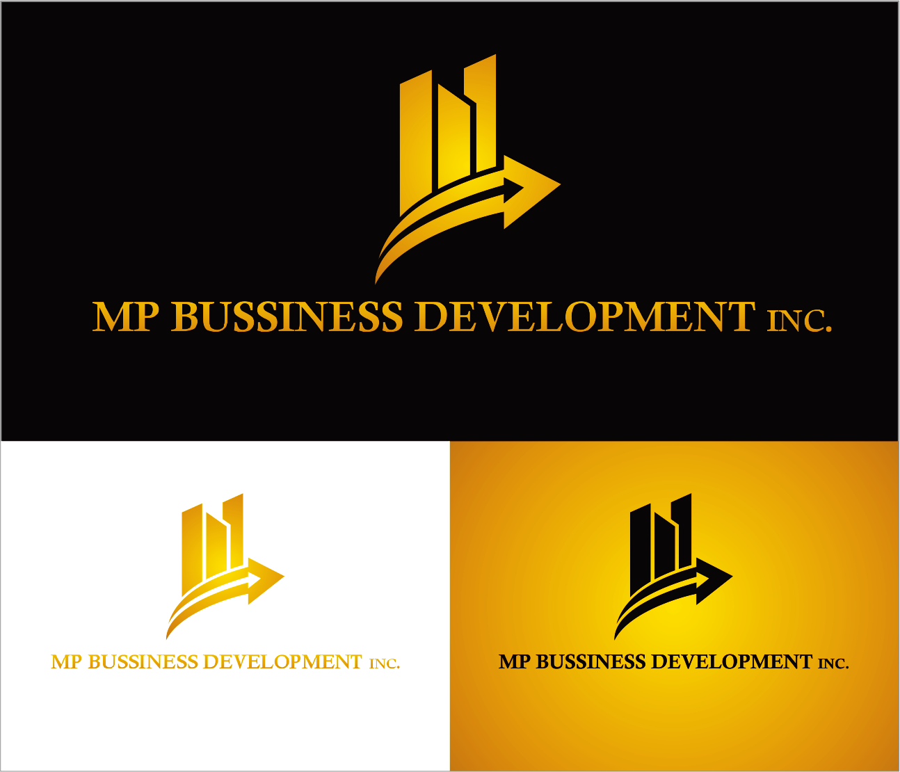Logo Design by Armada Jamaluddin - Entry No. 196 in the Logo Design Contest MP Business Development Inc. Logo Design.