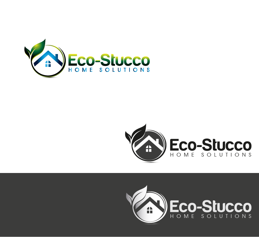 Logo Design by Private User - Entry No. 6 in the Logo Design Contest Unique Logo Design Wanted for Eco-Stucco Home Solutions.