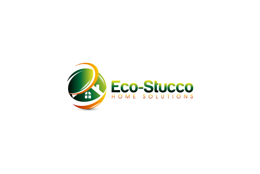 Logo Design by Private User - Entry No. 7 in the Logo Design Contest Unique Logo Design Wanted for Eco-Stucco Home Solutions.