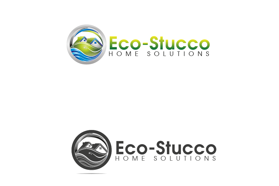 Logo Design by brands_in - Entry No. 9 in the Logo Design Contest Unique Logo Design Wanted for Eco-Stucco Home Solutions.