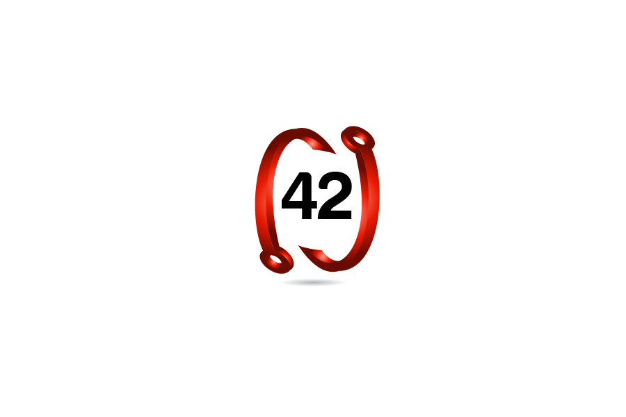 Logo Design by Private User - Entry No. 92 in the Logo Design Contest Artistic Logo Design for Number 42.