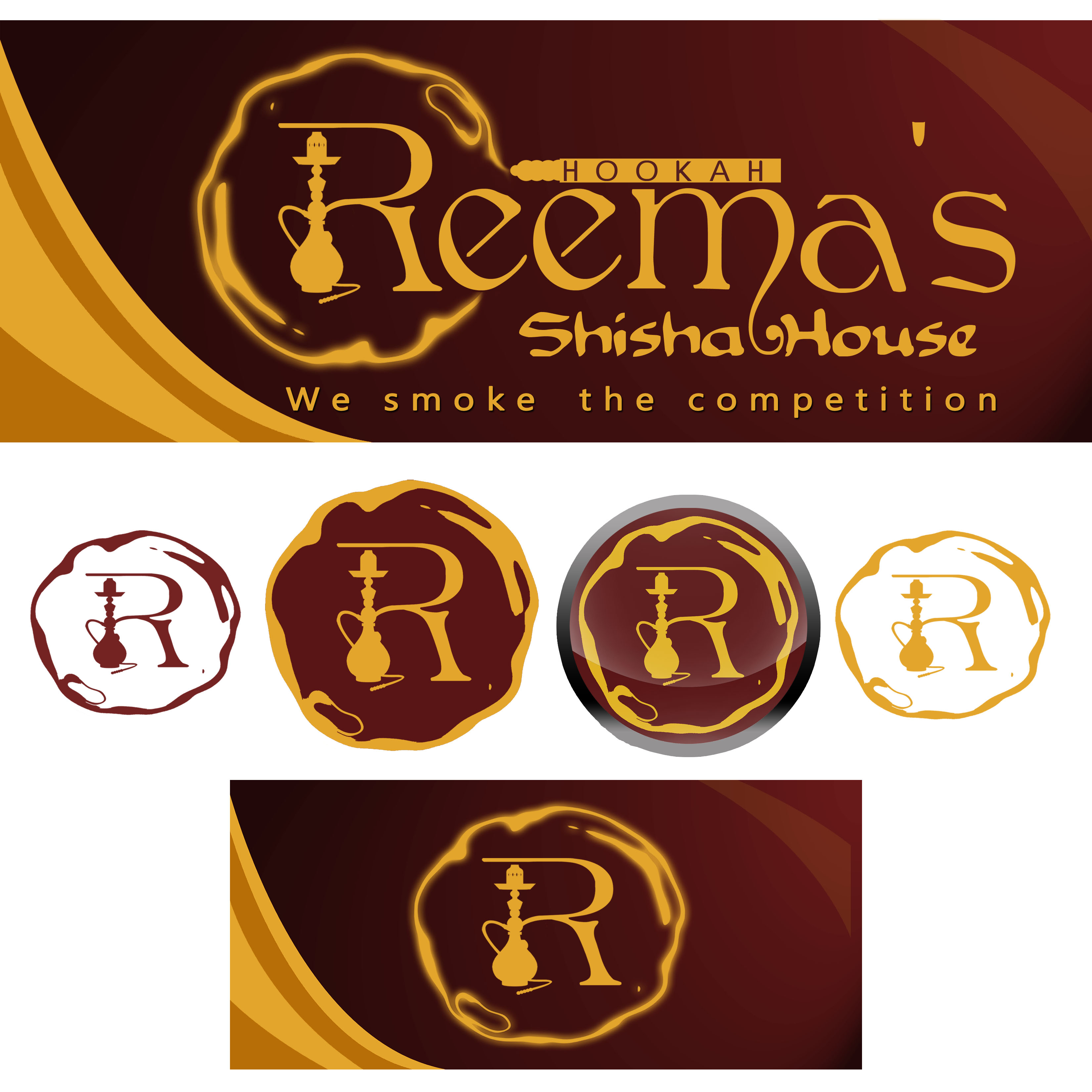 Logo Design by Allan Esclamado - Entry No. 67 in the Logo Design Contest Captivating Logo Design for Reema's Shisha House.