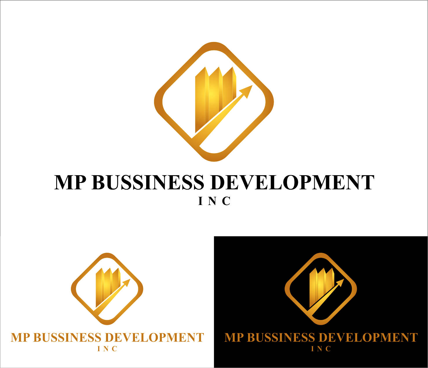 Logo Design by Armada Jamaluddin - Entry No. 222 in the Logo Design Contest MP Business Development Inc. Logo Design.