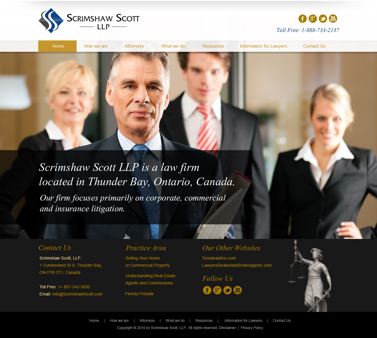 Web Page Design by Emad A Zyed - Entry No. 8 in the Web Page Design Contest Captivating Web Page Design for Scrimshaw Scott LLP.