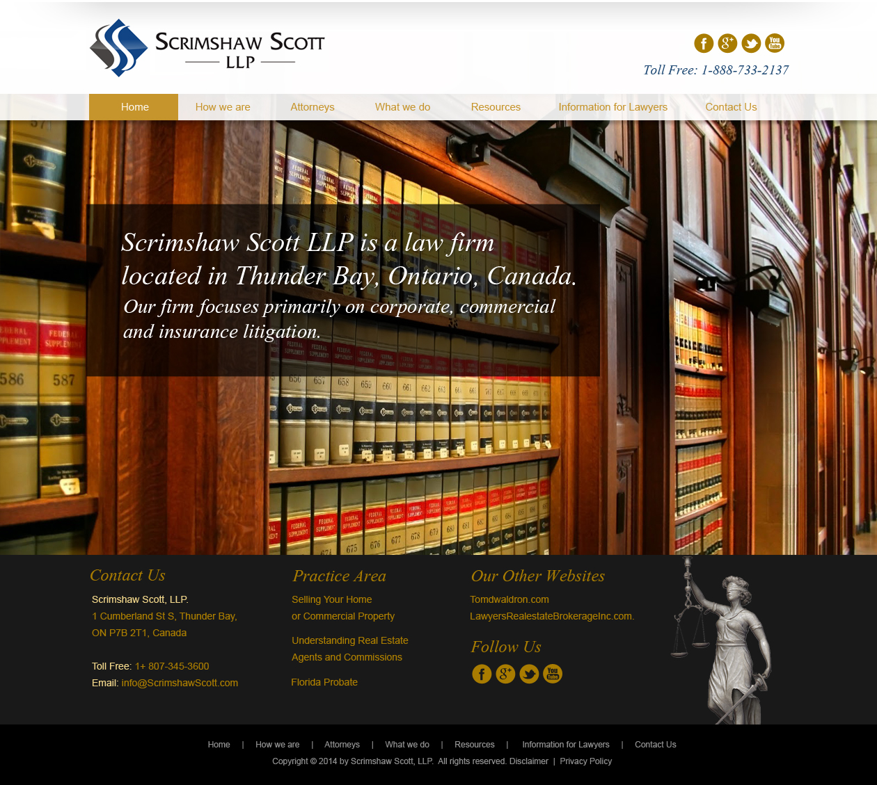Web Page Design by Emad A Zyed - Entry No. 11 in the Web Page Design Contest Captivating Web Page Design for Scrimshaw Scott LLP.