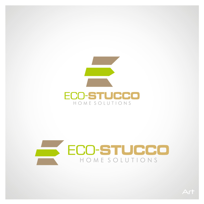 Logo Design by Puspita Wahyuni - Entry No. 12 in the Logo Design Contest Unique Logo Design Wanted for Eco-Stucco Home Solutions.