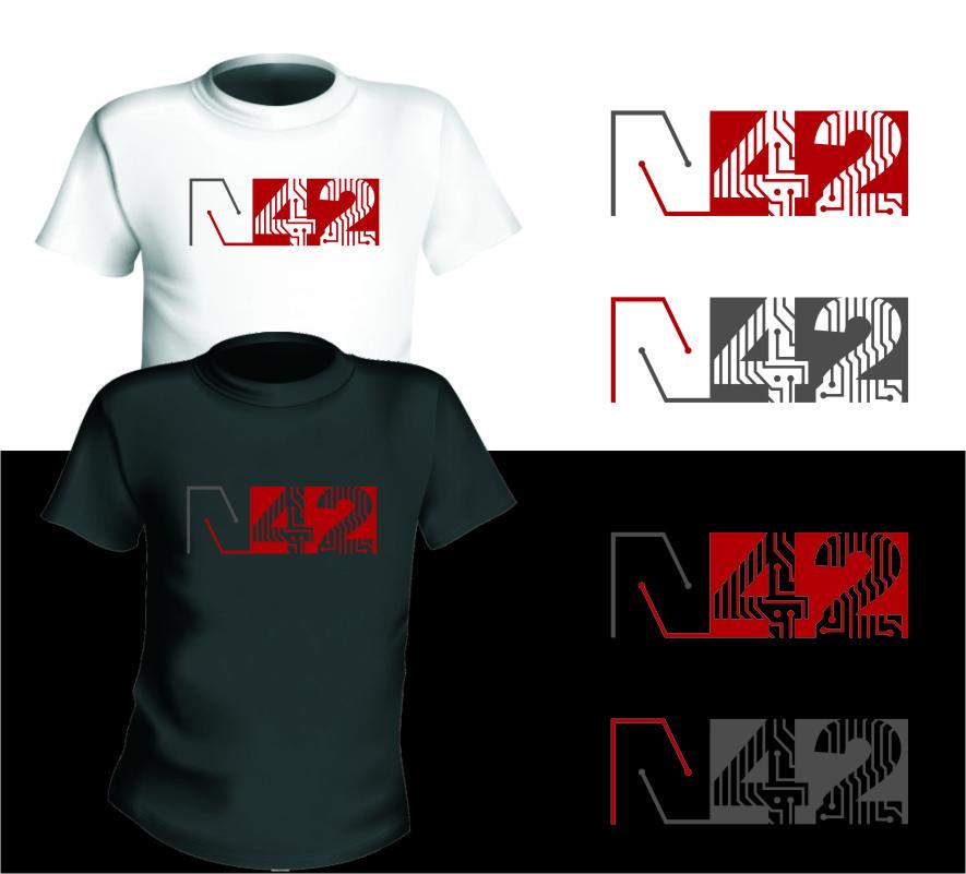 Logo Design by RasYa Muhammad Athaya - Entry No. 112 in the Logo Design Contest Artistic Logo Design for Number 42.