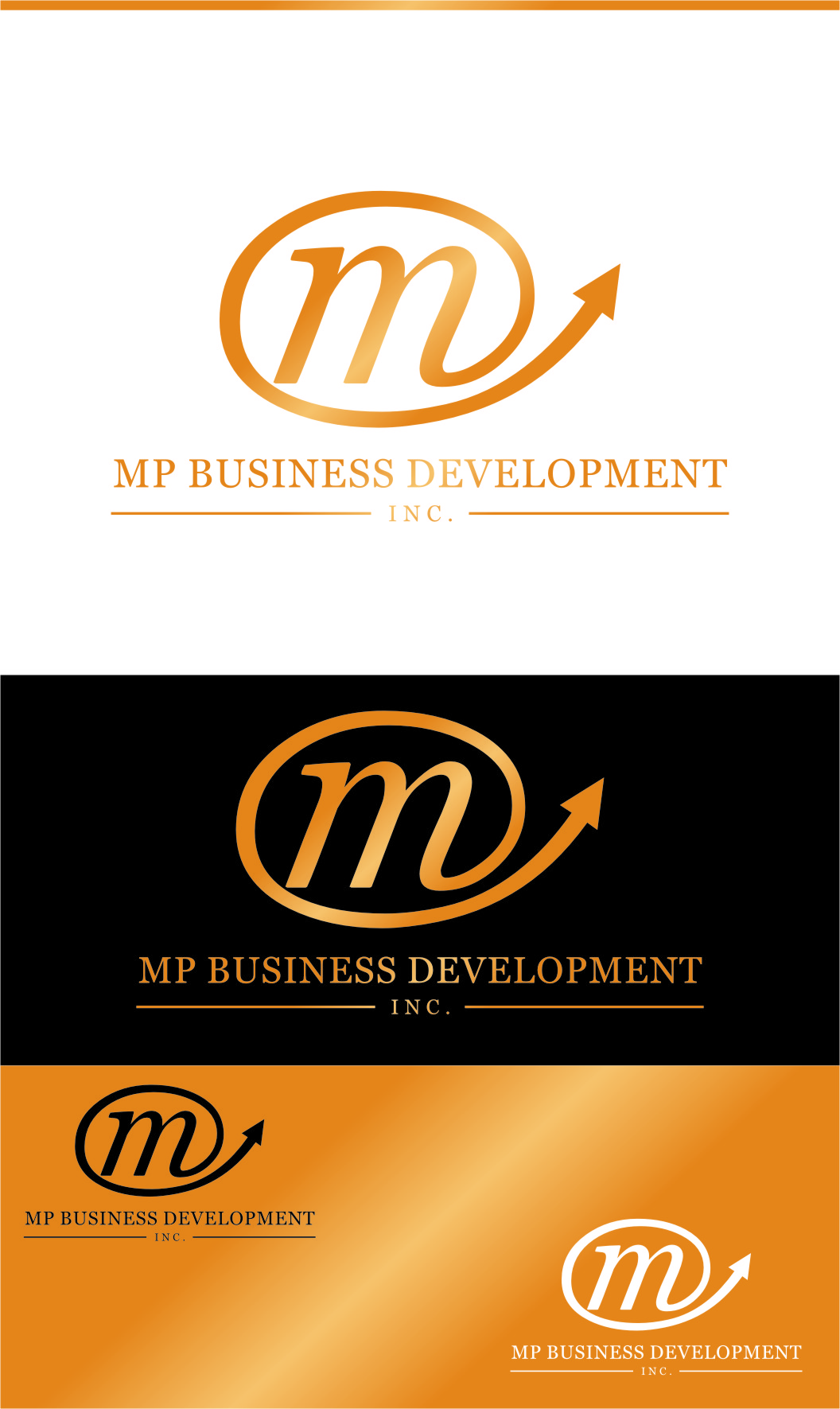 Logo Design by RasYa Muhammad Athaya - Entry No. 238 in the Logo Design Contest MP Business Development Inc. Logo Design.