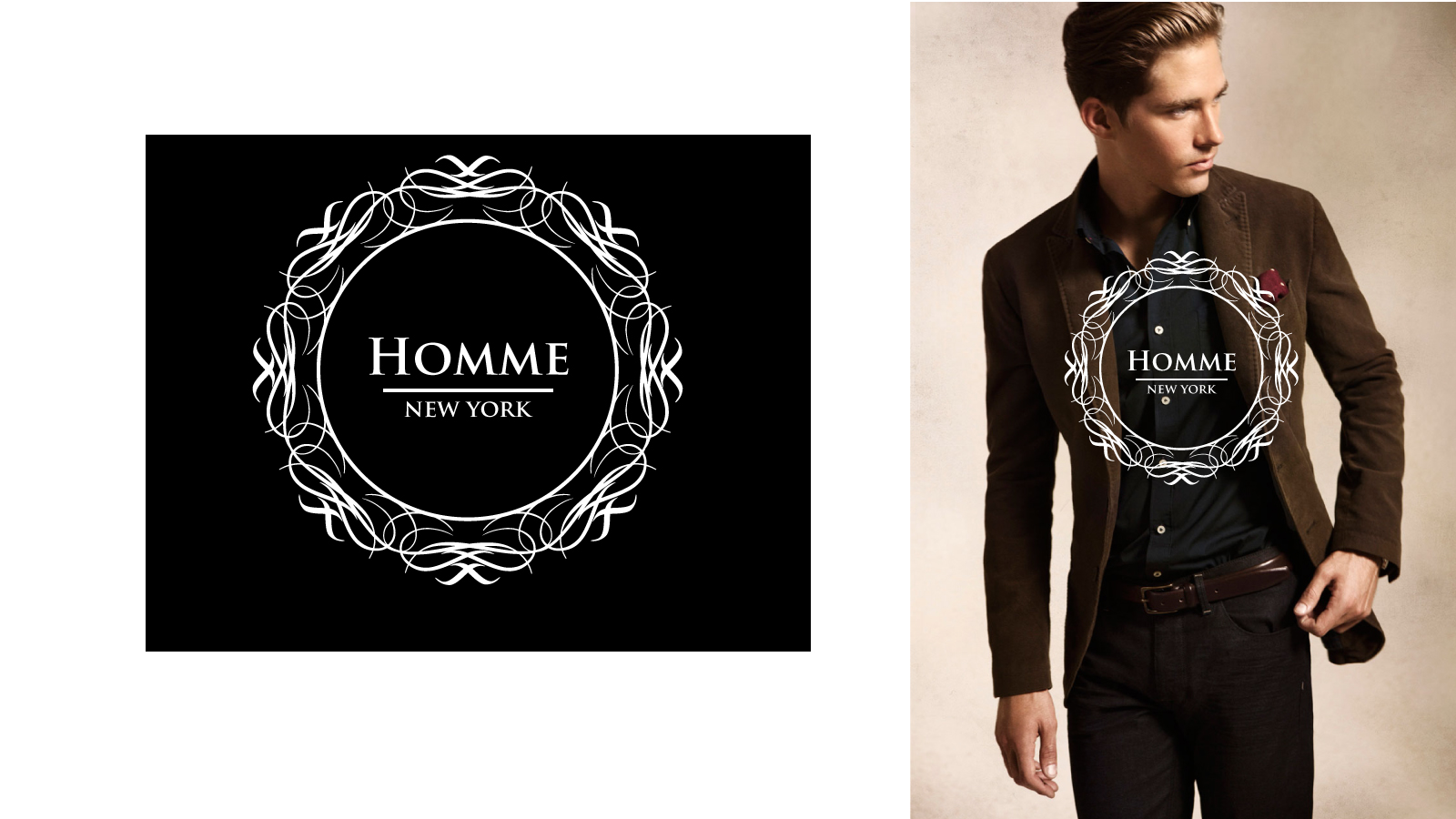 Logo Design by Jagdeep Singh - Entry No. 59 in the Logo Design Contest Artistic Logo Design for HOMME | NEW YORK.