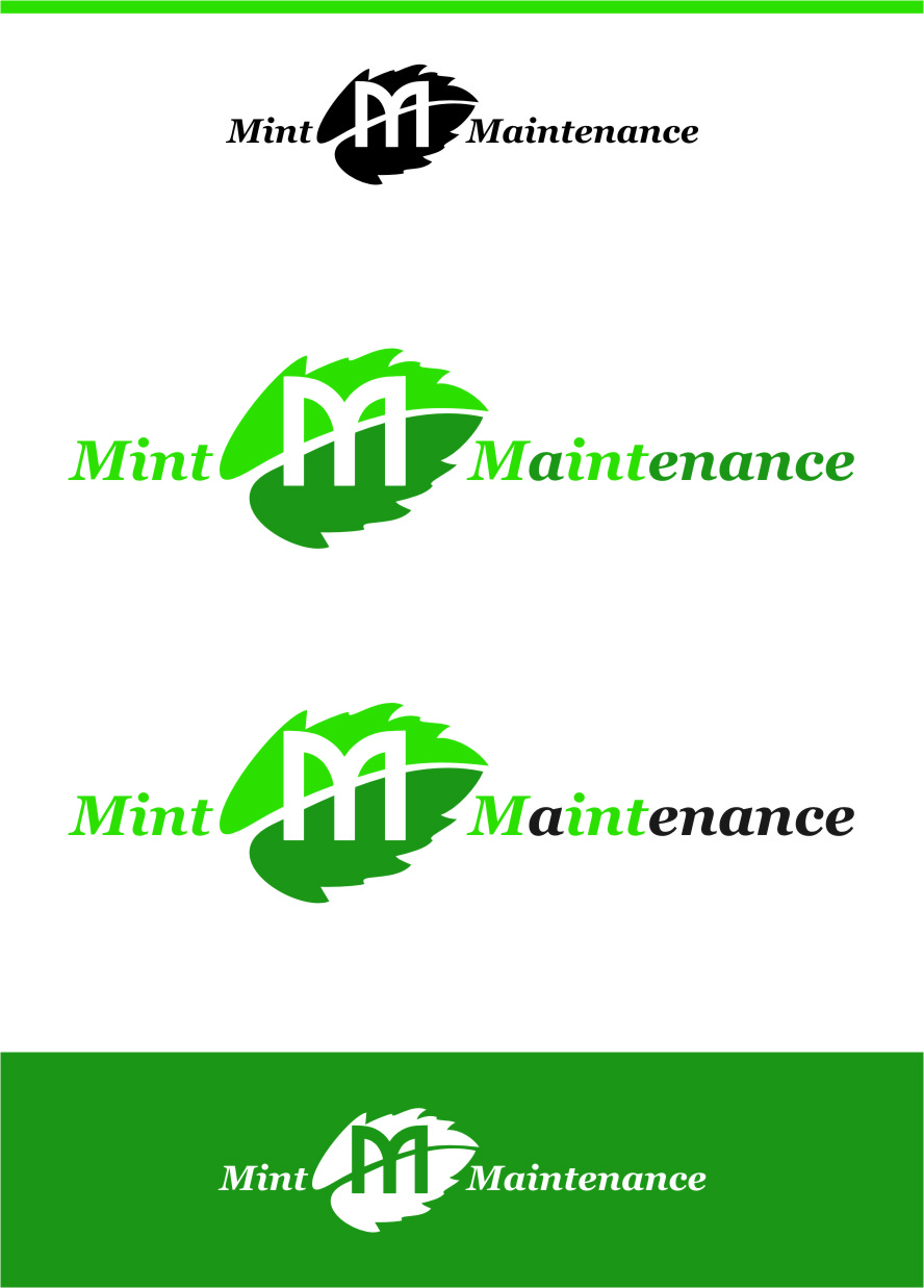 Logo Design by Ngepet_art - Entry No. 121 in the Logo Design Contest Creative Logo Design for Mint Maintenance.