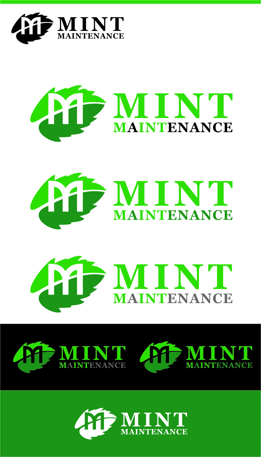 Logo Design by Ngepet_art - Entry No. 122 in the Logo Design Contest Creative Logo Design for Mint Maintenance.