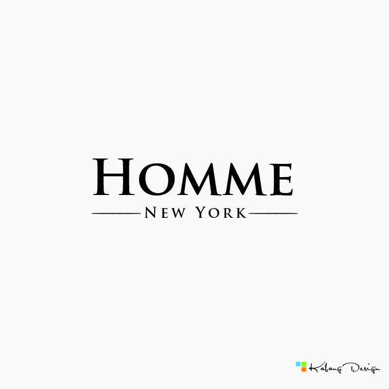 Logo Design by RHANCY ORPINADA - Entry No. 68 in the Logo Design Contest Artistic Logo Design for HOMME | NEW YORK.