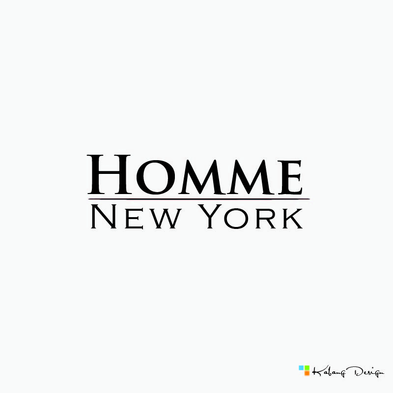 Logo Design by RHANCY ORPINADA - Entry No. 70 in the Logo Design Contest Artistic Logo Design for HOMME | NEW YORK.