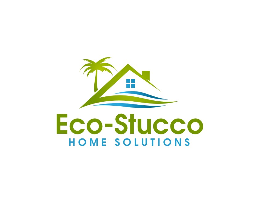 Logo Design by untung - Entry No. 19 in the Logo Design Contest Unique Logo Design Wanted for Eco-Stucco Home Solutions.