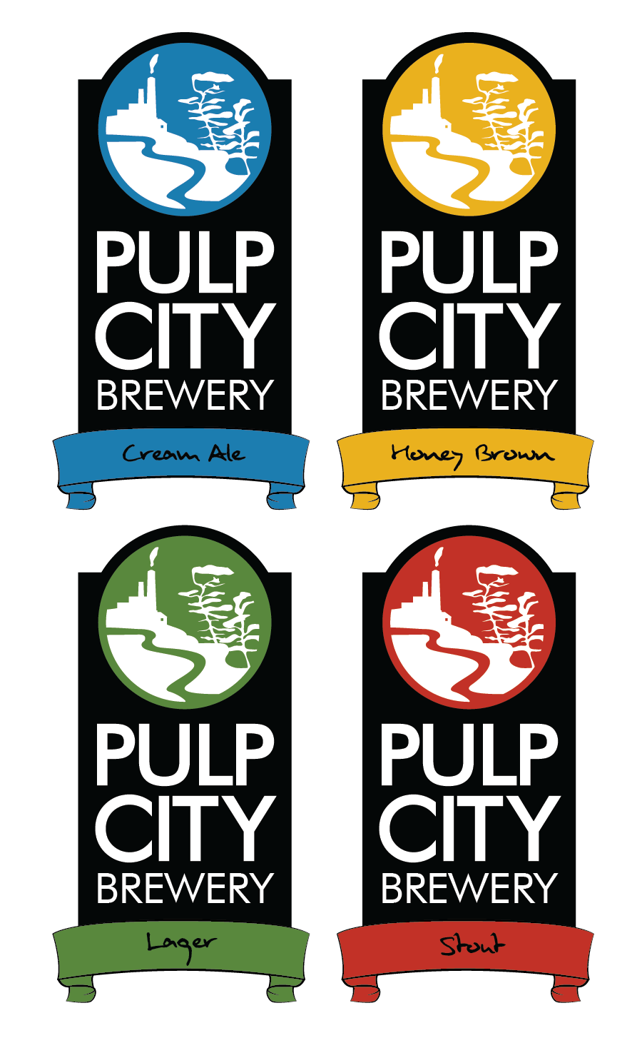Logo Design by Christina Evans - Entry No. 9 in the Logo Design Contest Artistic Logo Design for Pulp City Brewery.