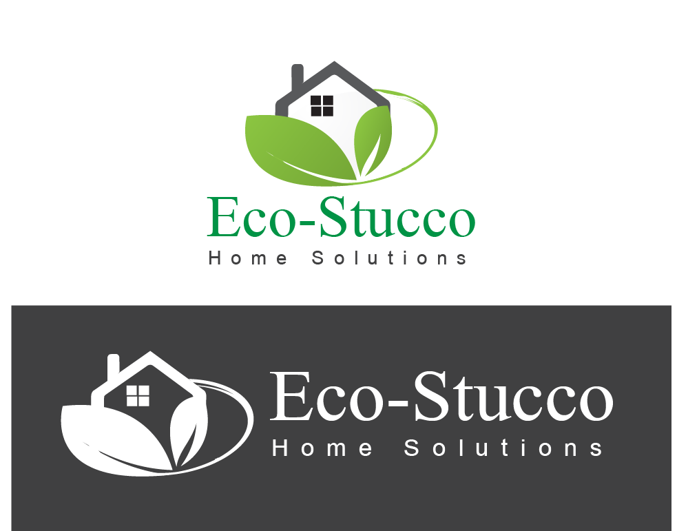 Logo Design by Omole Oluseyi - Entry No. 28 in the Logo Design Contest Unique Logo Design Wanted for Eco-Stucco Home Solutions.