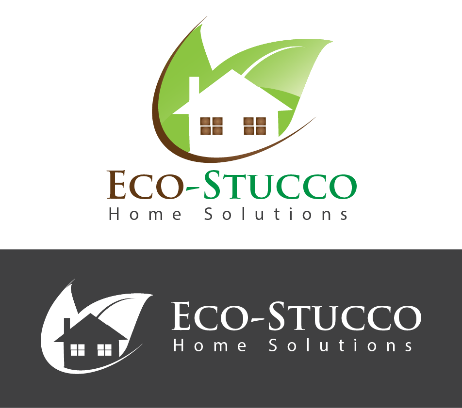 Logo Design by Omole Oluseyi - Entry No. 29 in the Logo Design Contest Unique Logo Design Wanted for Eco-Stucco Home Solutions.