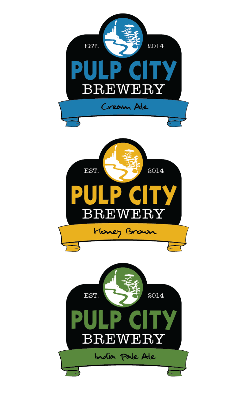 Logo Design by Christina Evans - Entry No. 14 in the Logo Design Contest Artistic Logo Design for Pulp City Brewery.