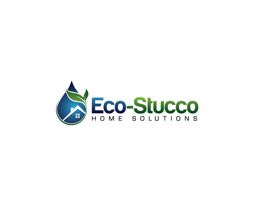 Logo Design by roc - Entry No. 31 in the Logo Design Contest Unique Logo Design Wanted for Eco-Stucco Home Solutions.