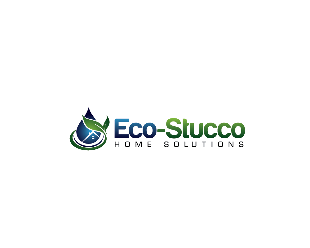 Logo Design by roc - Entry No. 32 in the Logo Design Contest Unique Logo Design Wanted for Eco-Stucco Home Solutions.