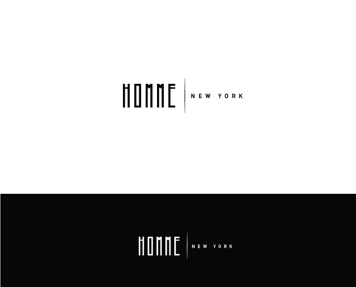 Logo Design by Murtaza Fayyaz - Entry No. 87 in the Logo Design Contest Artistic Logo Design for HOMME | NEW YORK.