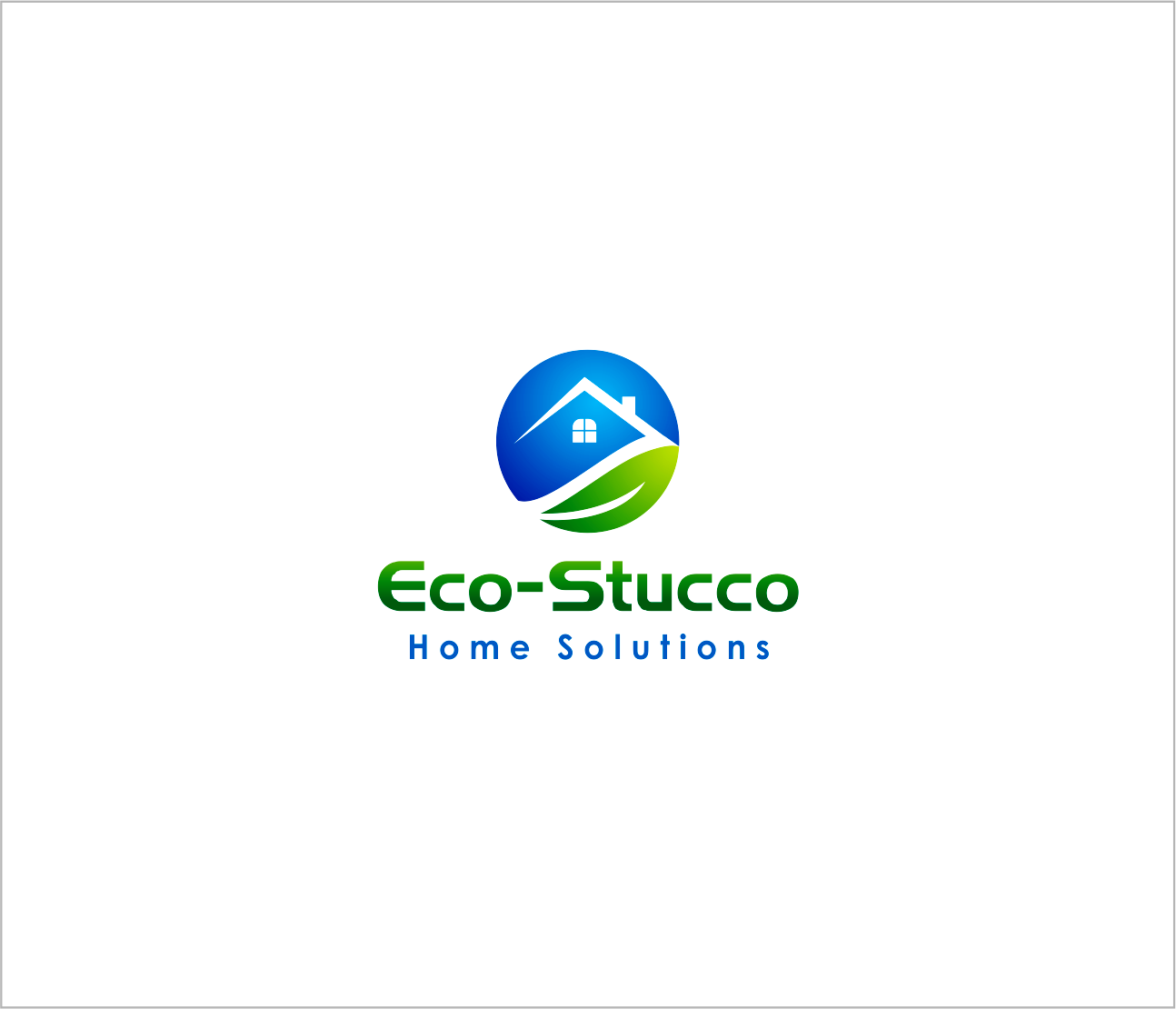Logo Design by Armada Jamaluddin - Entry No. 33 in the Logo Design Contest Unique Logo Design Wanted for Eco-Stucco Home Solutions.