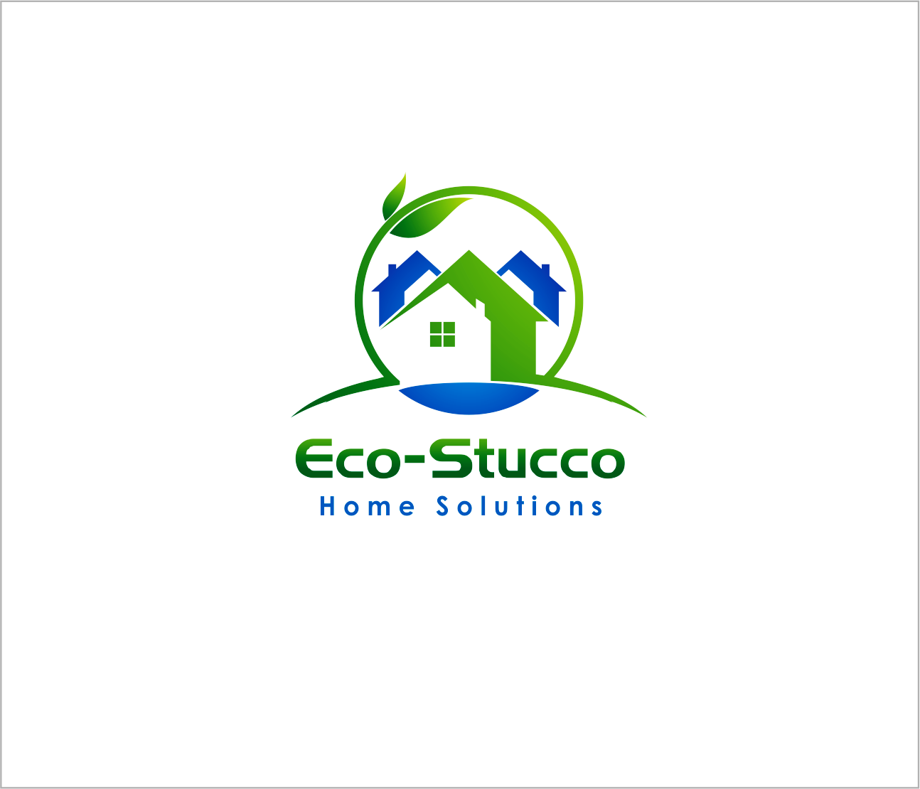 Logo Design by Armada Jamaluddin - Entry No. 34 in the Logo Design Contest Unique Logo Design Wanted for Eco-Stucco Home Solutions.