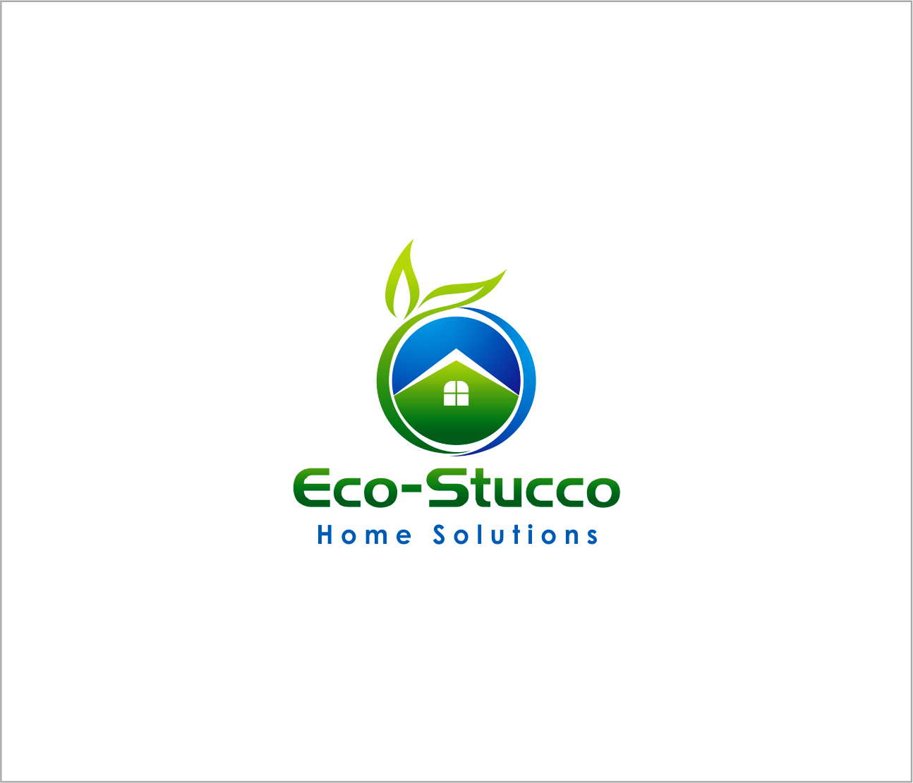 Logo Design by Armada Jamaluddin - Entry No. 35 in the Logo Design Contest Unique Logo Design Wanted for Eco-Stucco Home Solutions.