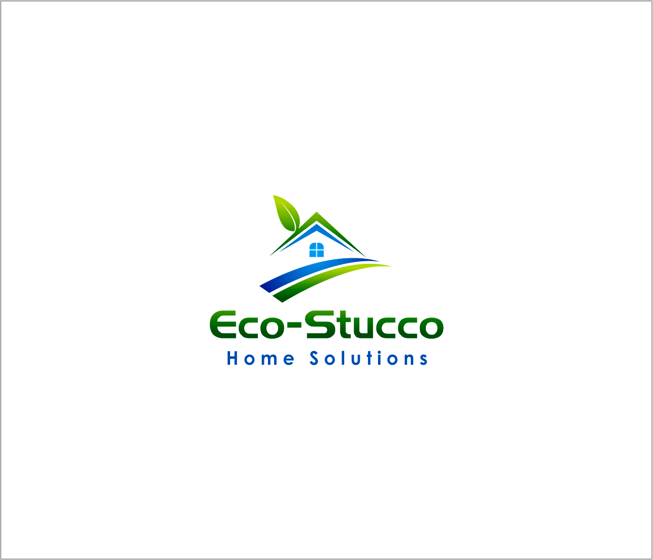 Logo Design by Armada Jamaluddin - Entry No. 36 in the Logo Design Contest Unique Logo Design Wanted for Eco-Stucco Home Solutions.