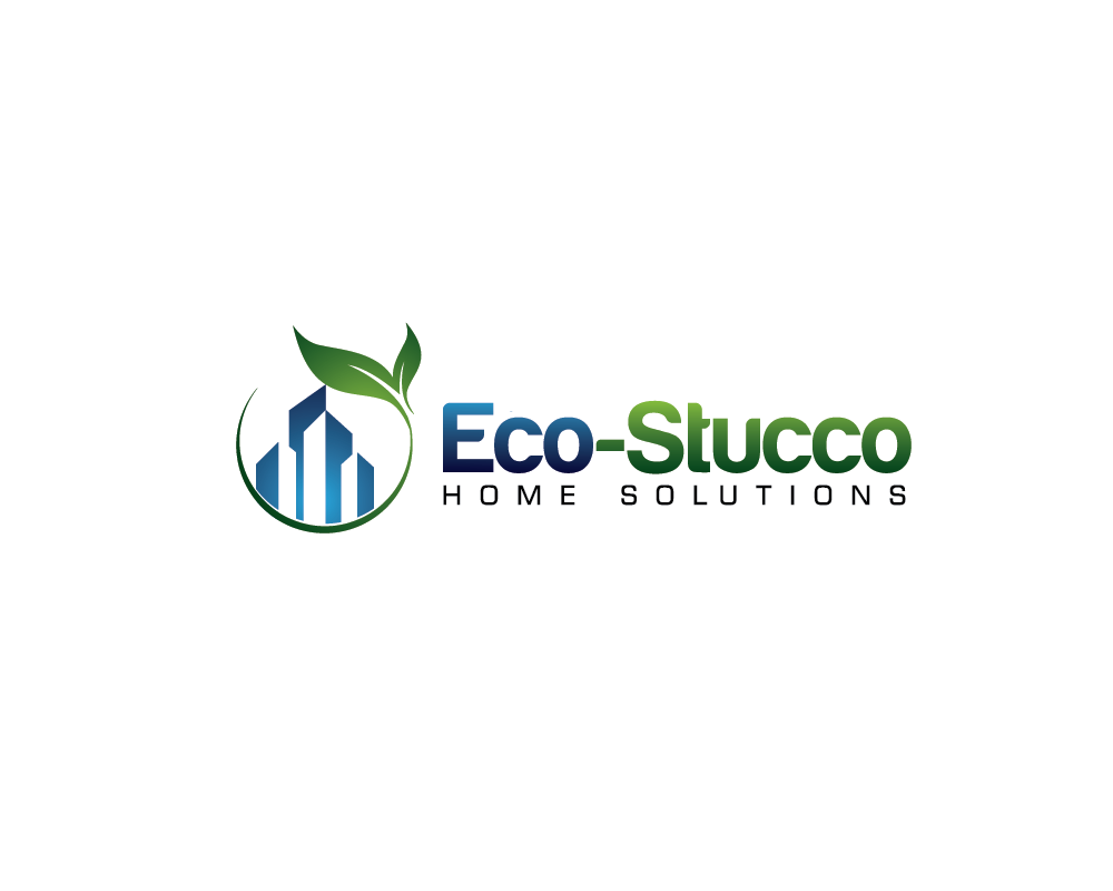 Logo Design by roc - Entry No. 37 in the Logo Design Contest Unique Logo Design Wanted for Eco-Stucco Home Solutions.