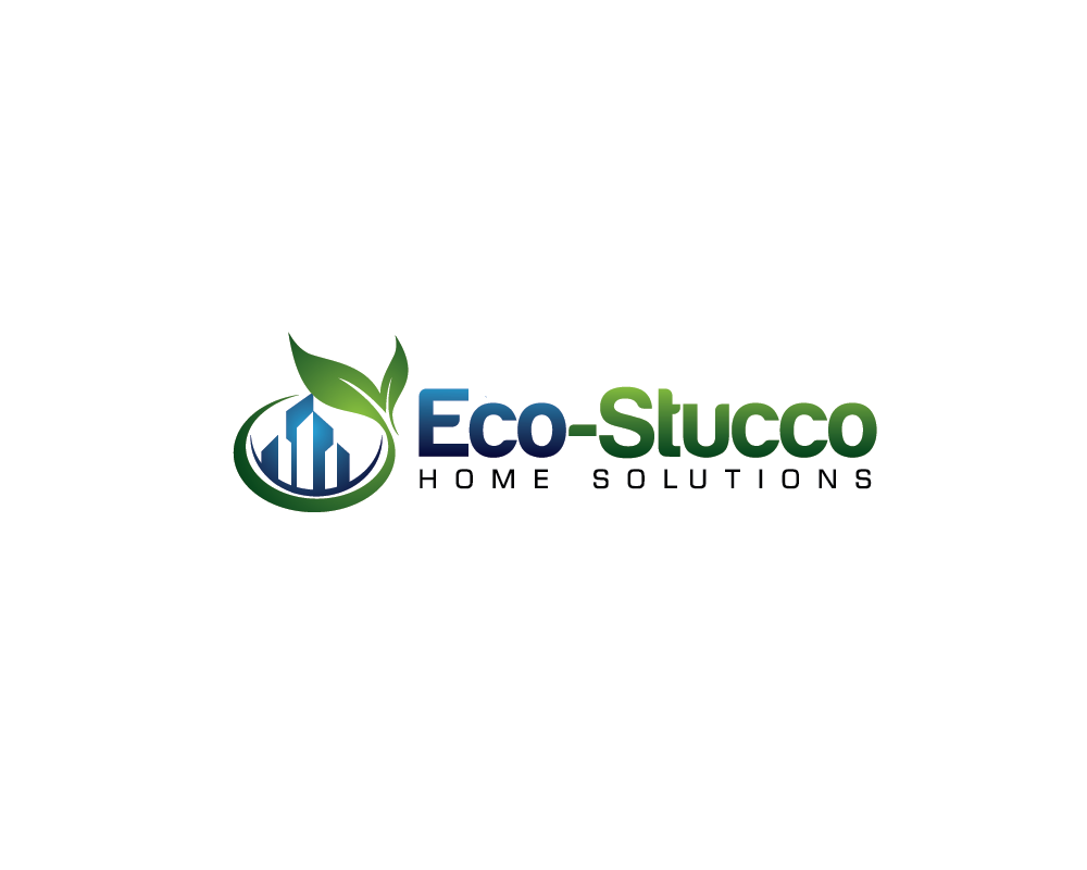 Logo Design by roc - Entry No. 38 in the Logo Design Contest Unique Logo Design Wanted for Eco-Stucco Home Solutions.