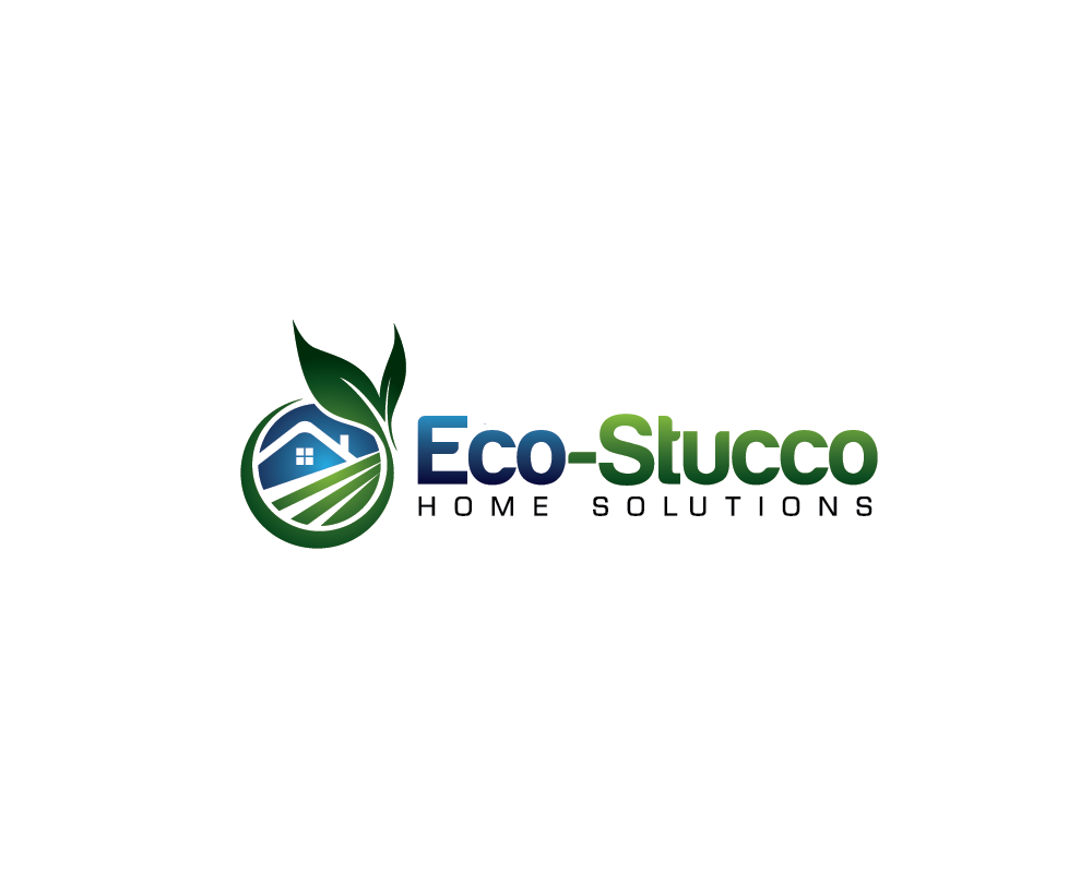 Logo Design by roc - Entry No. 39 in the Logo Design Contest Unique Logo Design Wanted for Eco-Stucco Home Solutions.