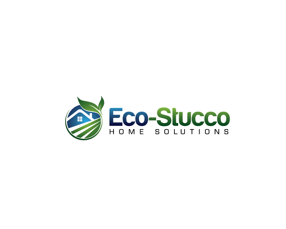 Logo Design by roc - Entry No. 40 in the Logo Design Contest Unique Logo Design Wanted for Eco-Stucco Home Solutions.