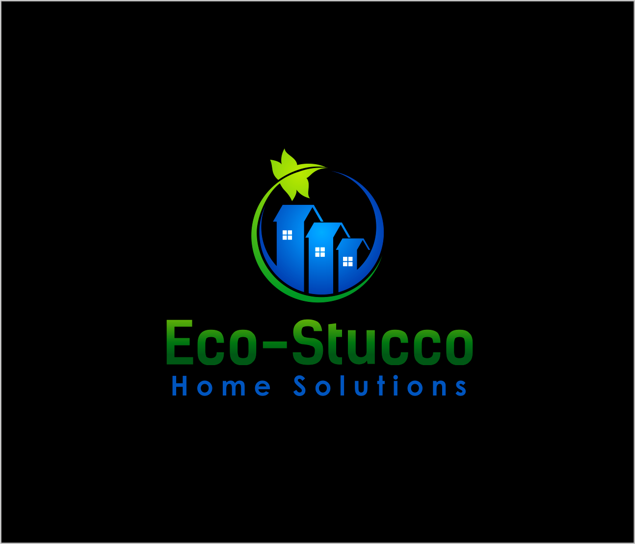Logo Design by Armada Jamaluddin - Entry No. 41 in the Logo Design Contest Unique Logo Design Wanted for Eco-Stucco Home Solutions.
