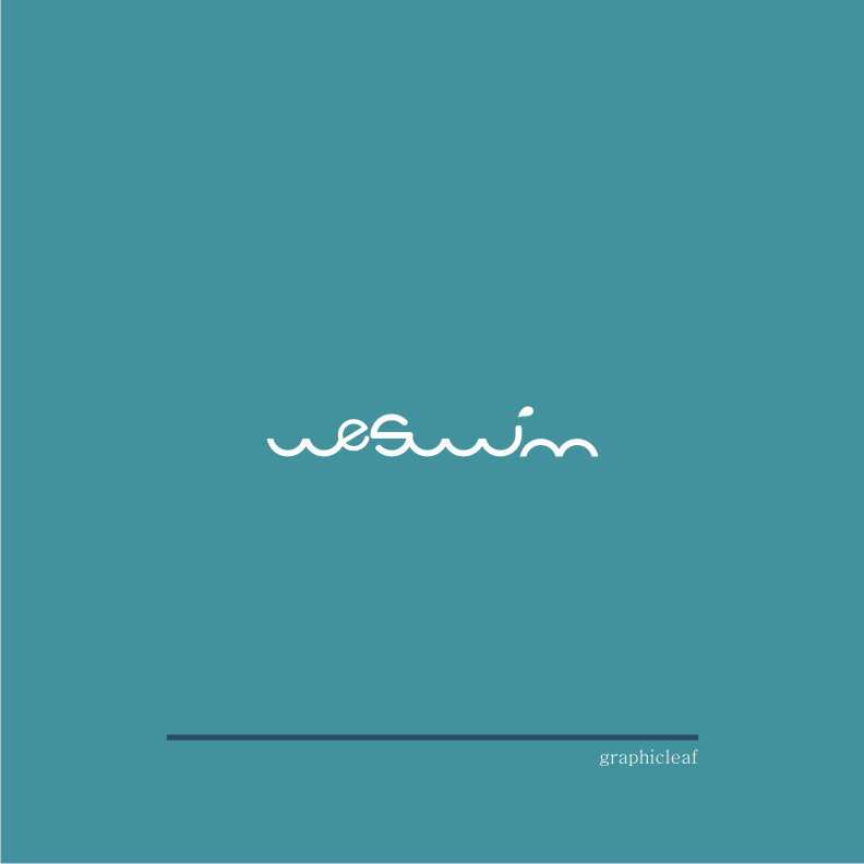 Logo Design by graphicleaf - Entry No. 4 in the Logo Design Contest Captivating Logo Design for We Swim.