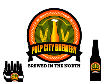 Logo Design by ibbie_ammiel2508 - Entry No. 19 in the Logo Design Contest Artistic Logo Design for Pulp City Brewery.