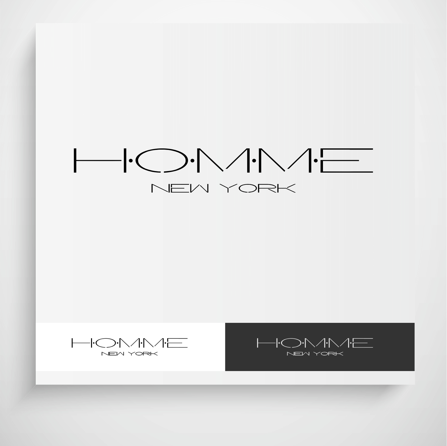 Logo Design by Krzysztof Mokanek - Entry No. 96 in the Logo Design Contest Artistic Logo Design for HOMME | NEW YORK.
