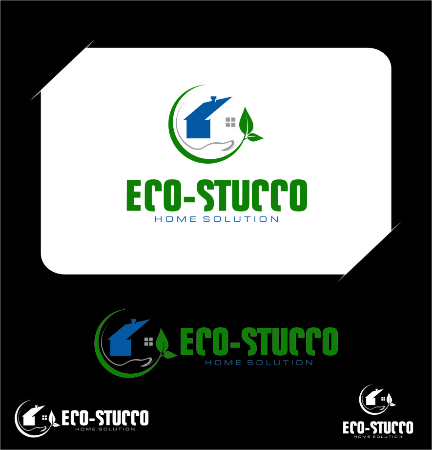 Logo Design by Ngepet_art - Entry No. 46 in the Logo Design Contest Unique Logo Design Wanted for Eco-Stucco Home Solutions.