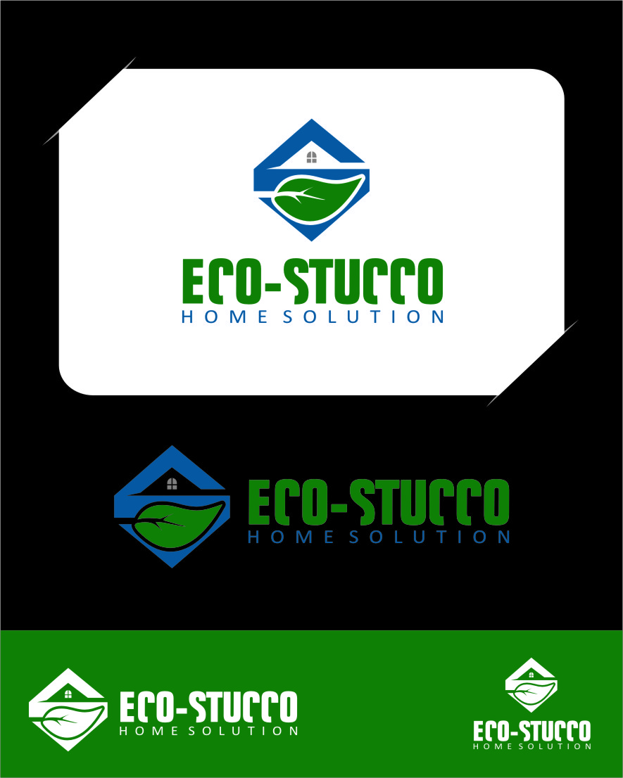 Logo Design by RasYa Muhammad Athaya - Entry No. 47 in the Logo Design Contest Unique Logo Design Wanted for Eco-Stucco Home Solutions.