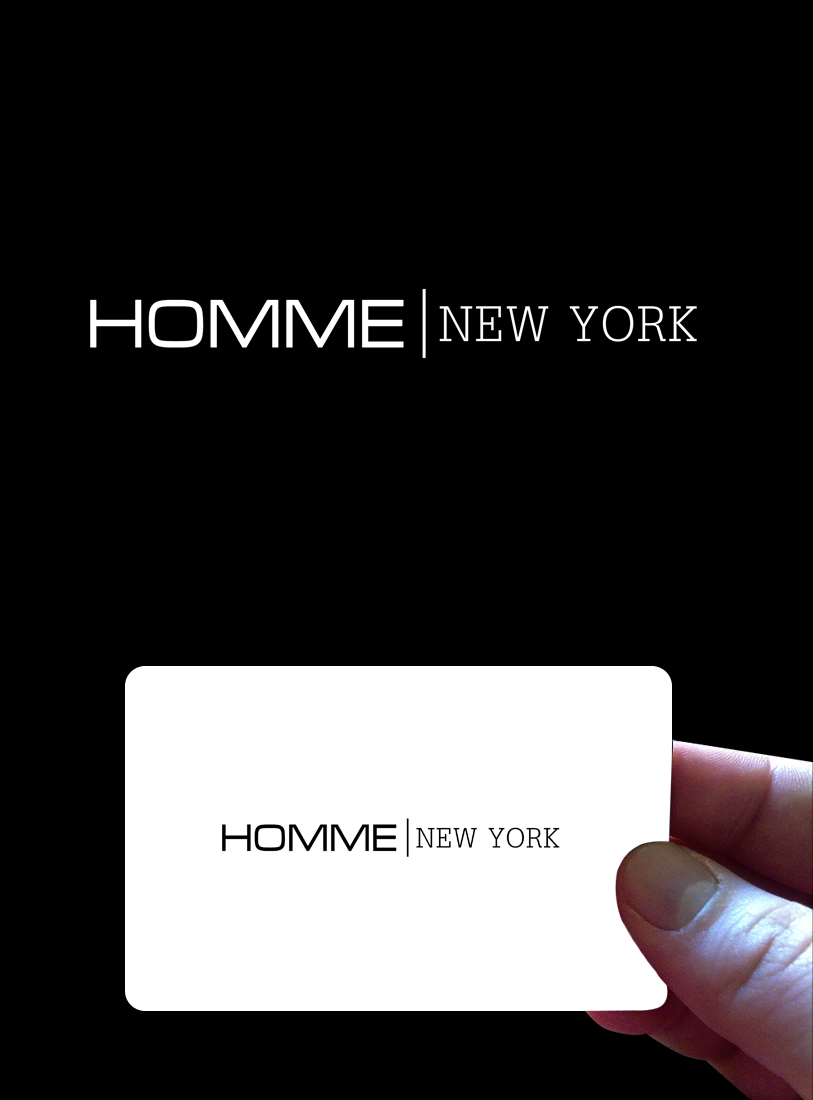Logo Design by Private User - Entry No. 97 in the Logo Design Contest Artistic Logo Design for HOMME | NEW YORK.