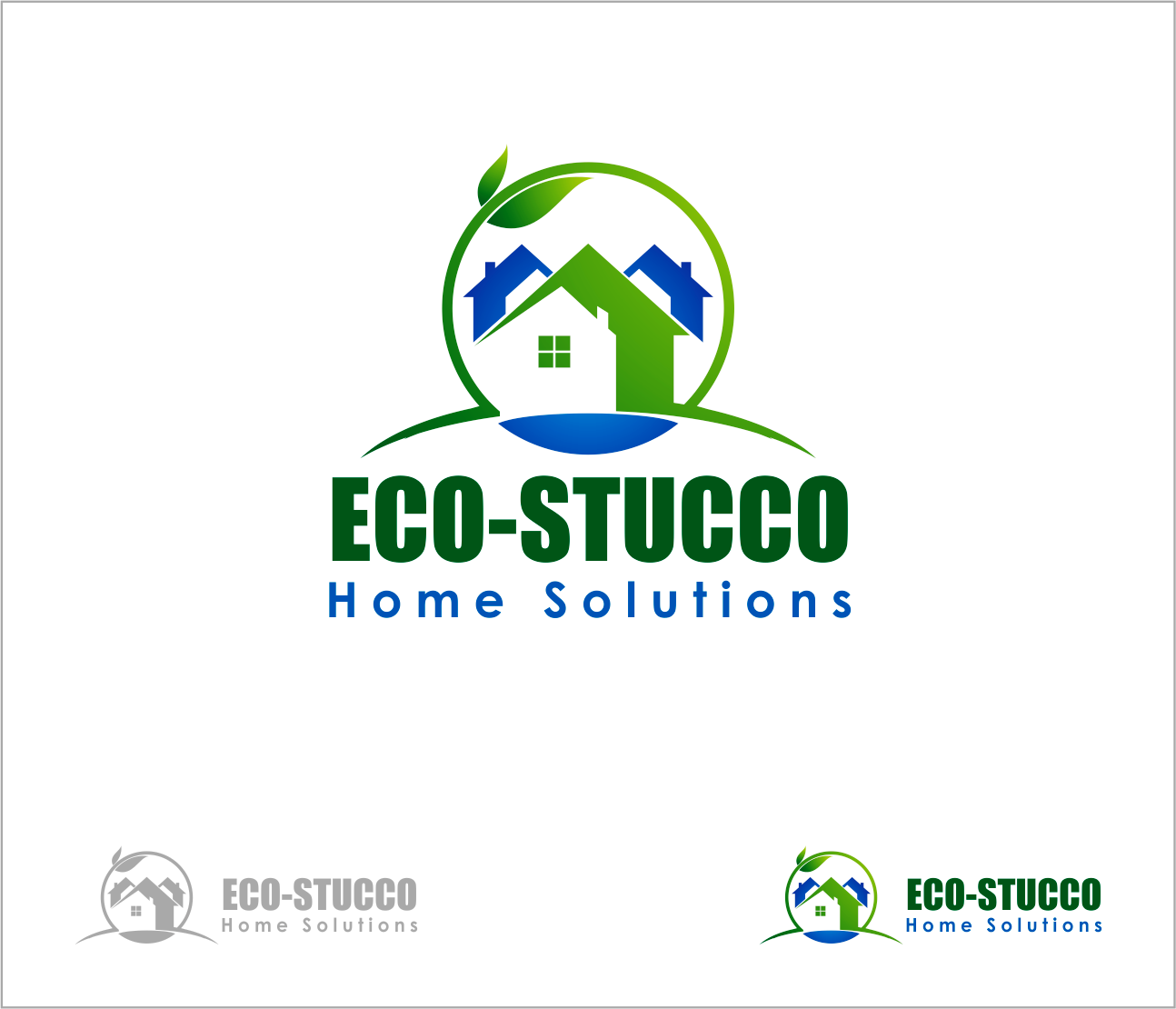 Logo Design by Armada Jamaluddin - Entry No. 48 in the Logo Design Contest Unique Logo Design Wanted for Eco-Stucco Home Solutions.