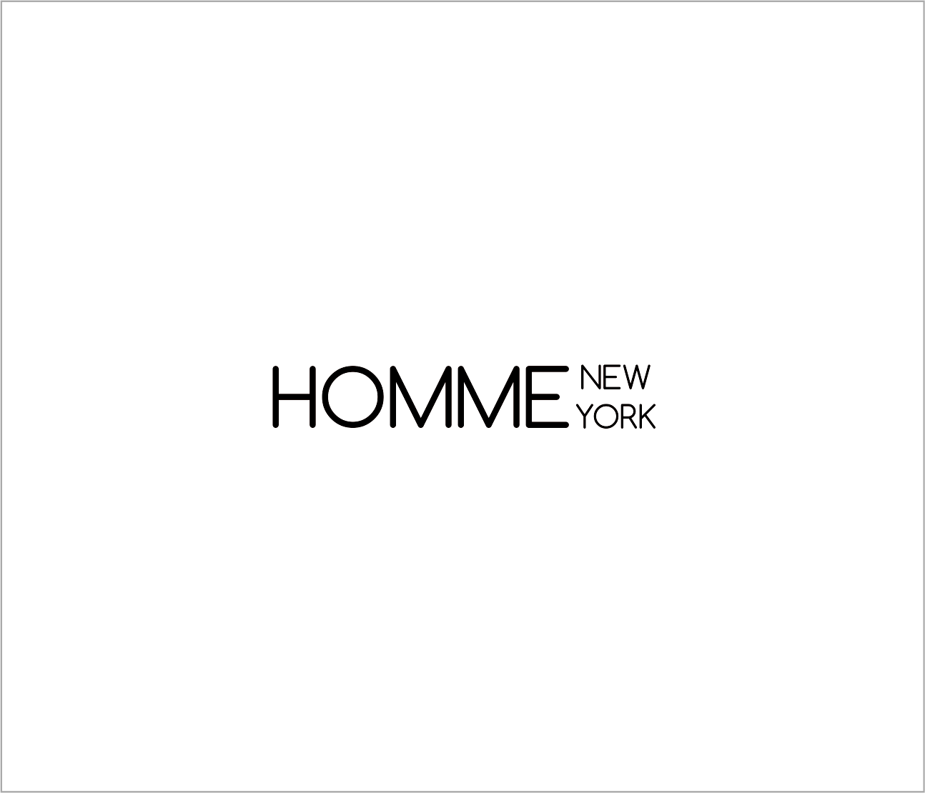 Logo Design by Armada Jamaluddin - Entry No. 99 in the Logo Design Contest Artistic Logo Design for HOMME | NEW YORK.