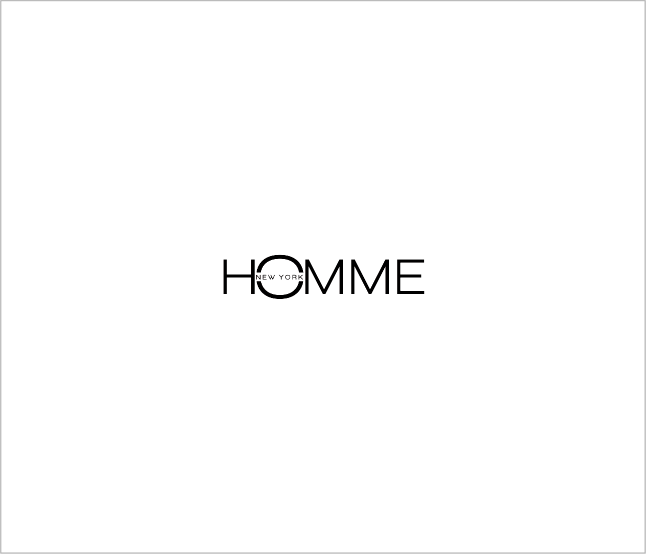 Logo Design by Armada Jamaluddin - Entry No. 100 in the Logo Design Contest Artistic Logo Design for HOMME | NEW YORK.