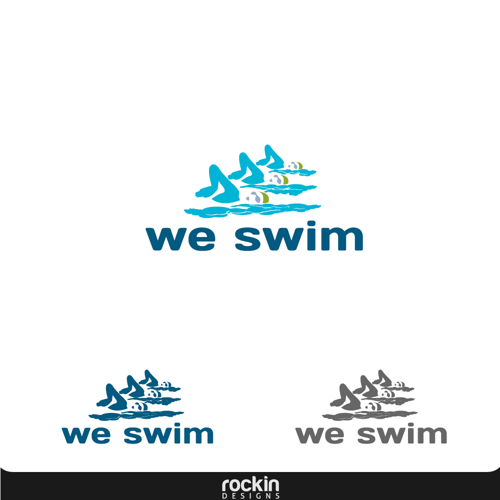 Logo Design by rockin - Entry No. 13 in the Logo Design Contest Captivating Logo Design for We Swim.